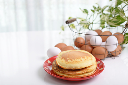Pancakes with Chicken eggs