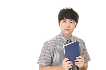 Portrait of an Asian teacher Stock Photo