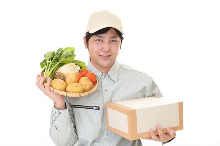 Smiling Asian farmer