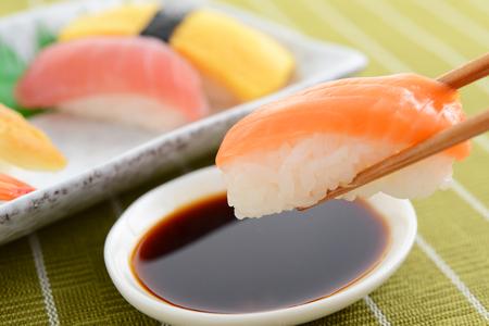 Japanese cuisine Sushi Stock Photo