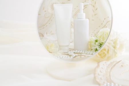 Skin care basic cosmetics Stock Photo