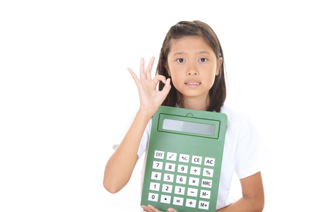 Portrait of an Asian schoolgirl Stock Photo