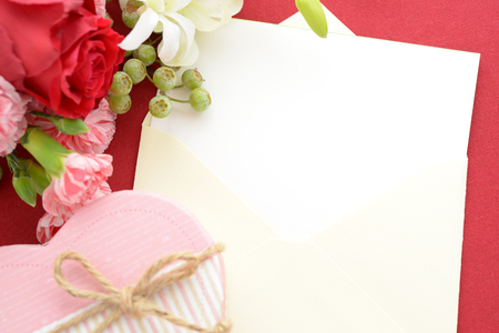 Flowers with a gift box