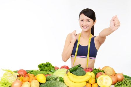 Successful woman on diet Stock Photo