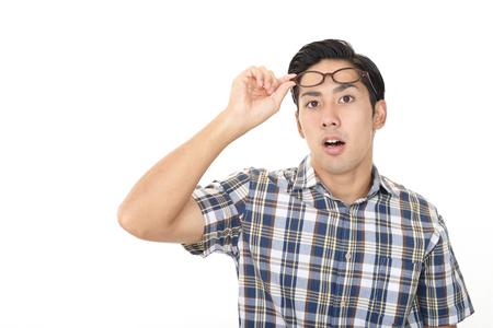 Surprised Asian man 写真素材