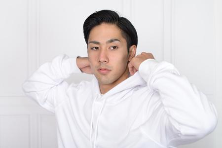Portrait of an Asian man 版權商用圖片