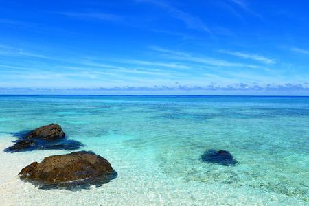 Beautiful sea and sky in Okinawa Stock Photo
