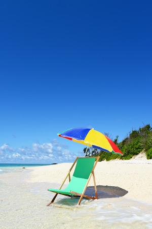 Gorgeous Beach in Summertime 免版税图像