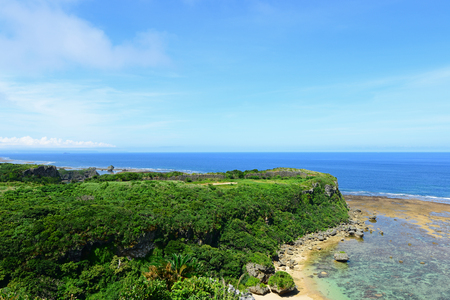 Beautiful blue sky and sea of Okinawa