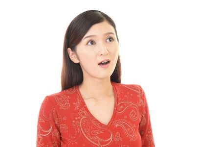 Surprised Asian woman