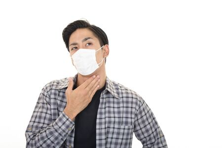 Man with a bad cold Stock Photo