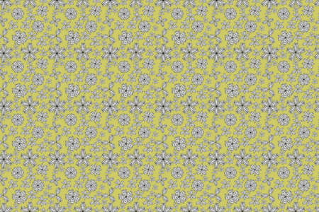 seamless pano raster pattern with white doodles flowers Banque d'images - 167033505
