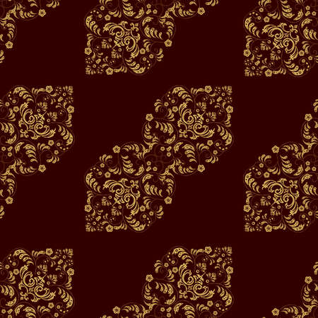 Seamless pattern with interesting doodles on colorfil background. Vector illustration.