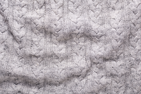 Gray knitting wool texture background Crocheted fabric texture 写真素材
