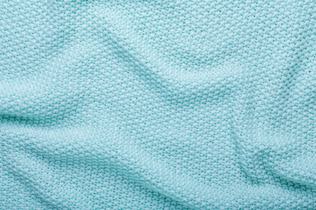 Fondo de textura de lana de tejer menta textura de la tela de ganchillo