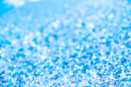 Blur abstract blue background Twinkling lights bokeh Copy space 写真素材