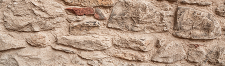 Stone texture and background. Rock texture. Panorama of masonry