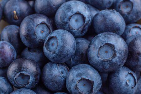 Background of fresh ripe sweet blueberries. Macro photo - Image