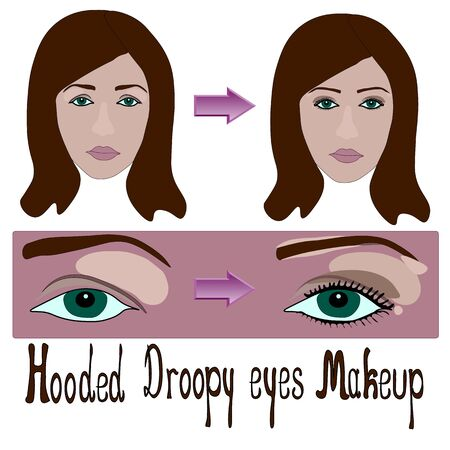 hooded and droopy eyes woman make up