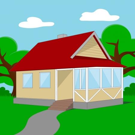 small cottage Illustration