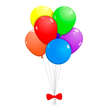 bunch of balloons on the white background Illustration