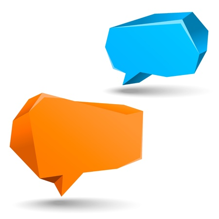 abstract speech bubbles on the white background