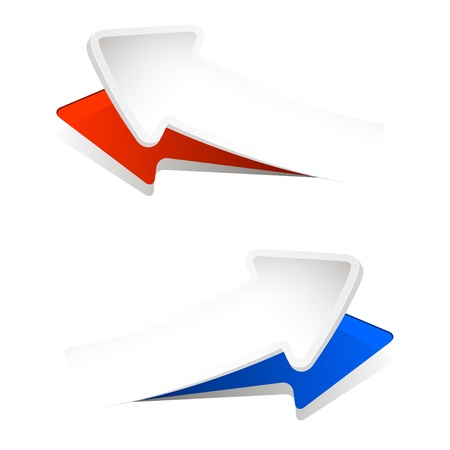 vector illustration of abstract convex arrows