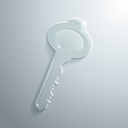Illustration of Shiny Glass Key