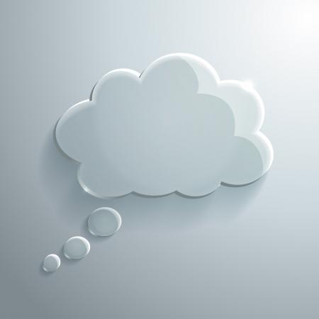 Illustration of Glass Speech Bubble
