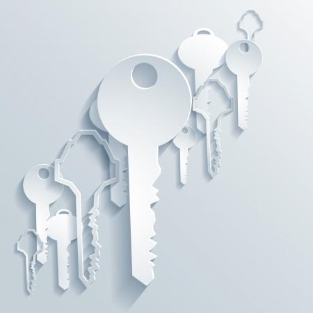 キーの抽象的な 3 D ペーパー グラフィックス
