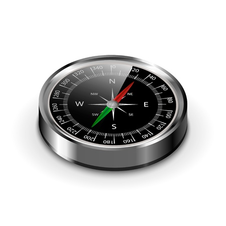 separated by layers, editable vector illustration of compass for your own design