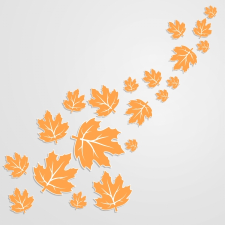 Abstract autumn background of the paper leaves