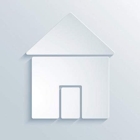 あなた自身のデザインのための家の抽象的なペーパー グラフィックス