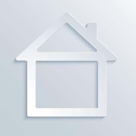 Abstract Paper Graphics of House for Your Own Design