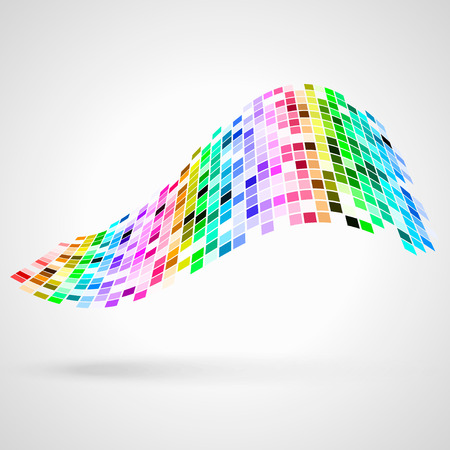 oscillation: Superficie colorida de los cuadrados. Vector de fondo abstracto