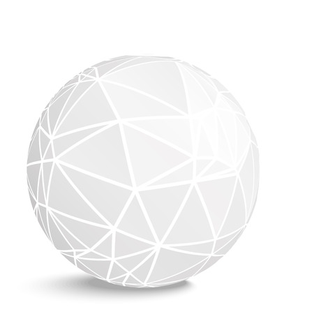 Abstract geometrical background of sphere.