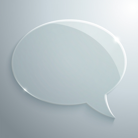 Abstract glass speech bubble vector background for your own design