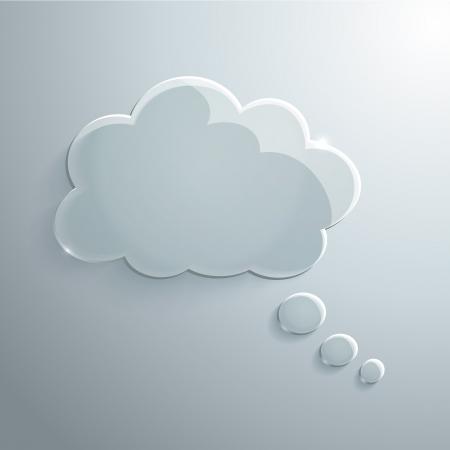 あなた自身の設計の抽象的なガラス音声バブルのベクトルの背景
