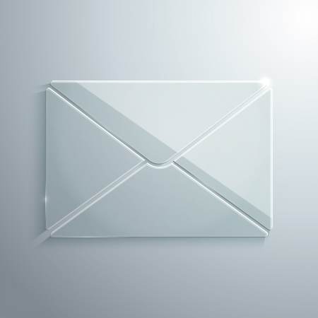 Vector Illustration of Envelope Made of Glass
