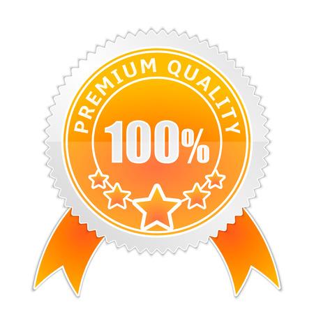 Vector illustration of badge of Premium Quality