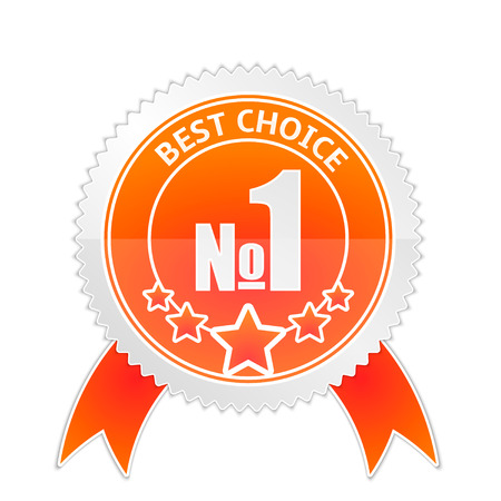 Vector illustration of Badge of Best Choice