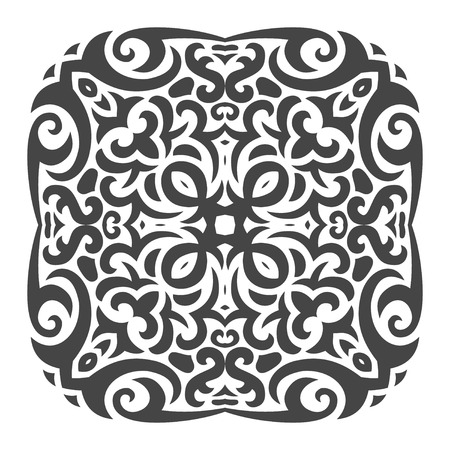 Vector illustration of abstract mehndi tattoo ornament Illustration