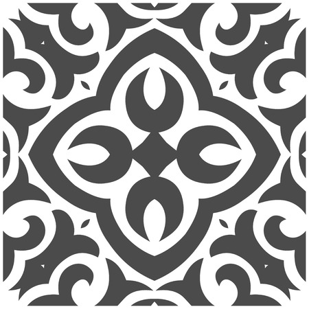 Vector Illustration of Abstract Seamless Pattern in Mehndi Style  イラスト・ベクター素材