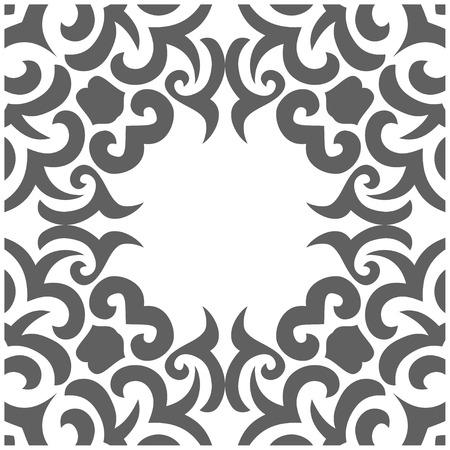一時的な刺青スタイルで抽象的なシームレス パターンのベクトル イラスト