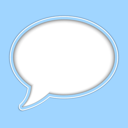Abstract vector background of paper speech bubble for your own design  イラスト・ベクター素材