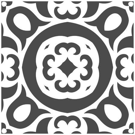 Vector Illustration of Abstract Seamless Pattern in Mehndi Style Illustration
