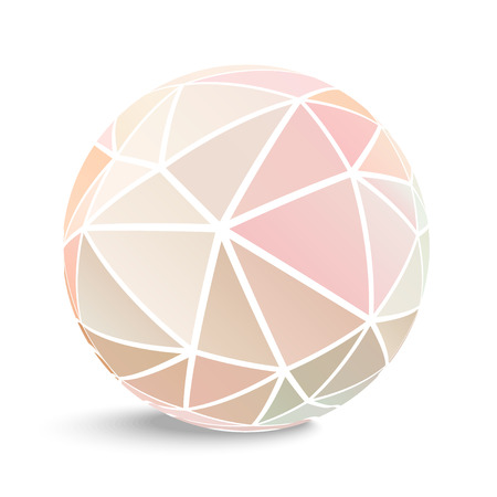 crumpled paper ball: Abstract geometrical background of sphere.