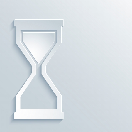 Abstract Paper Graphics of Hourglass for Your Own Design.