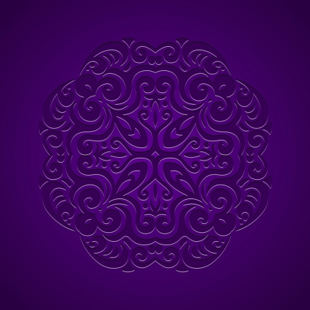 Abstract vector background of stamped ornament in tribal style