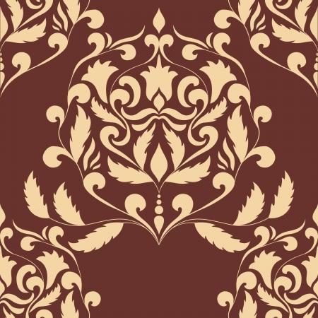 Damask seamless pattern element   イラスト・ベクター素材